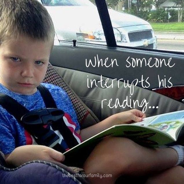 When someone interrupts his reading....jpg