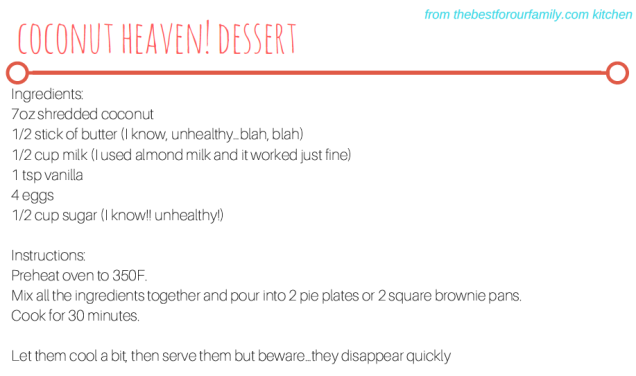 Coconut Heaven Dessert