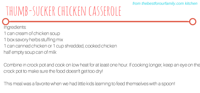 Thumb-Sucker Chicken Casserole